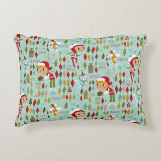 Retro Christmas Fun Decorative Pillow