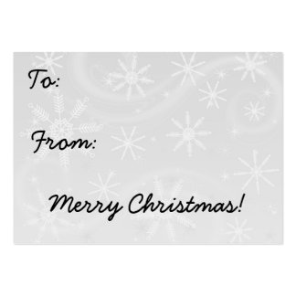 Retro Christmas Gift Tag Business Card