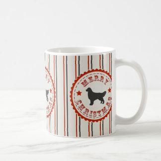 Retro Christmas Golden Retriever Classic White Coffee Mug