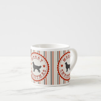 Retro Christmas Golden Retriever Espresso Mug