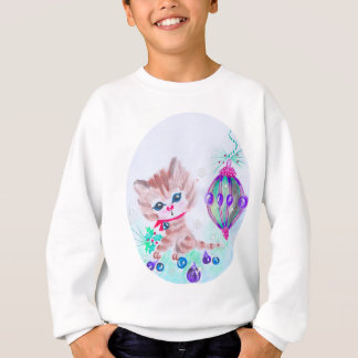 Retro Christmas Kitty Sweatshirt