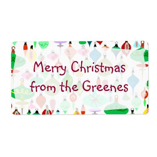 Retro Christmas Labels