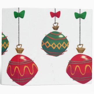 Retro  Christmas Ornaments Binder