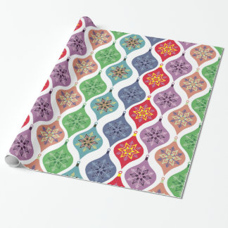 Retro Christmas Ornaments Holiday Wrapping Paper