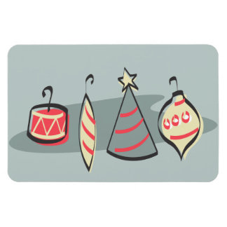Retro Christmas ornaments Magnet