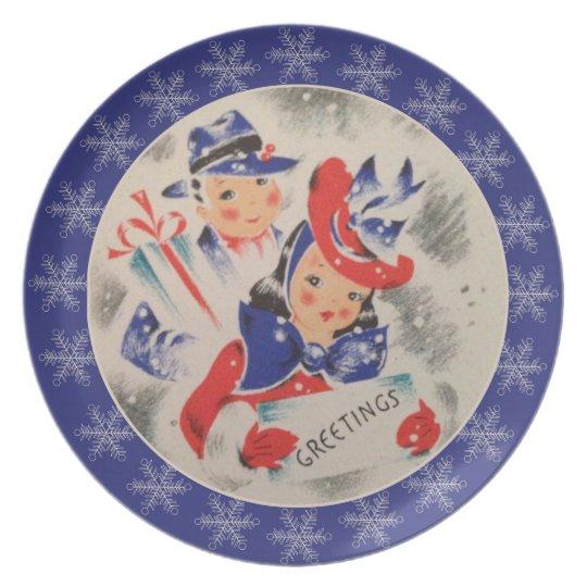 Retro Christmas Plate