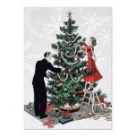 "Retro Christmas Tree 5"" X 7"" Invitation Card"