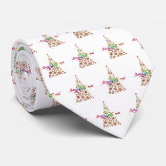 Retro Christmas Tree Men's Tie