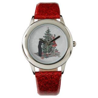 Retro Christmas Tree Watch