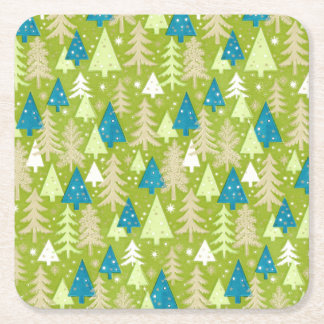 "Retro Christmas Trees 4"" Coasters"