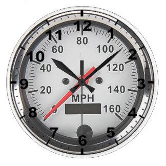"""Retro chrome speedometer"" design wall clocks"