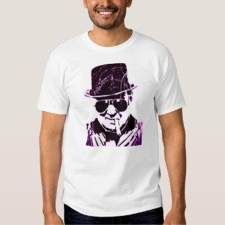 Rétro Churchill pourpre Tshirt