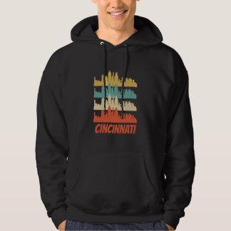 Retro Cincinnati OH Skyline Pop Art Hoodie