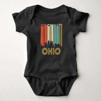Retro Cincinnati Skyline Baby Bodysuit