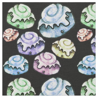 Retro Cinnamon Rolls Fabric
