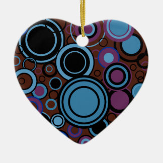 Retro Circle Background Ceramic Ornament