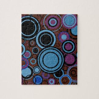 Retro Circle Background Jigsaw Puzzle