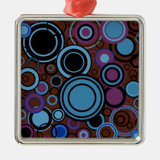 Retro Circle Background Metal Ornament