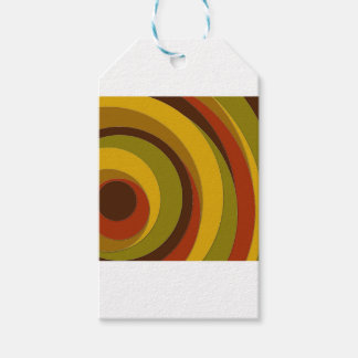 Retro Circle Design Gift Tags