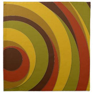 Retro Circle Design Napkin