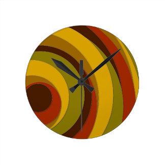 Retro Circle Design Round Clock