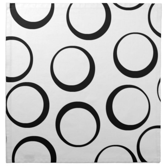 Retro circle print cloth napkins