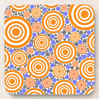 Retro Circles Beverage Coaster