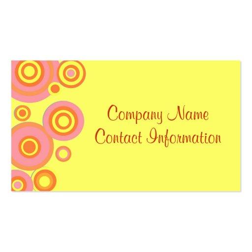 Retro Circles Business Cards