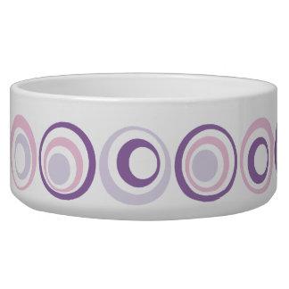 Retro Circles Dog Food Bowls