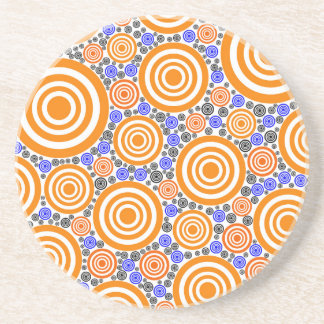 Retro Circles Drink Coasters