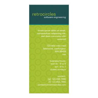 Retro Circles Green & Teal Business Rack Card