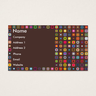 Retro Circles In Squares Business Card