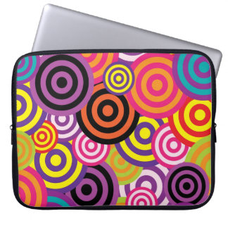 Retro Circles Laptop Sleeve