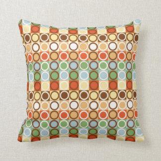 retro circles orange & green throw pillows_small throw pillow