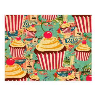 Retro Circus Cupcakes Postcard