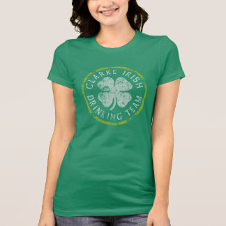 Retro Clarke Irish Family Drinking Team T-Shirt