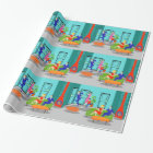 Retro Classic Television Wrapping Paper