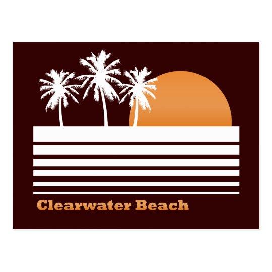 Retro Clearwater Beach Postcard