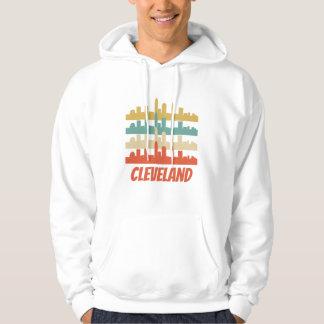 Retro Cleveland OH Skyline Pop Art Hoodie