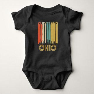 Retro Cleveland Skyline Baby Bodysuit