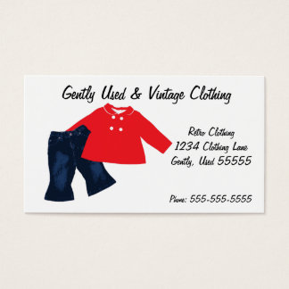 Retro Clothing Business Card