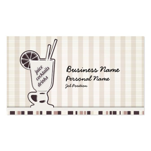 Retro Cocktail Bar Drink Business Card