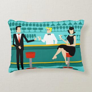 Retro Cocktail Lounge Accent Pillow