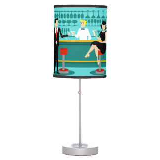 Retro Cocktail Lounge Table Lamp