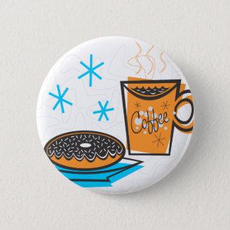 Retro Coffee and Doughnut 2 Inch Round Button