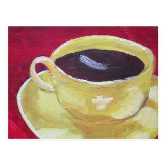 Retro Coffee cup Postcard