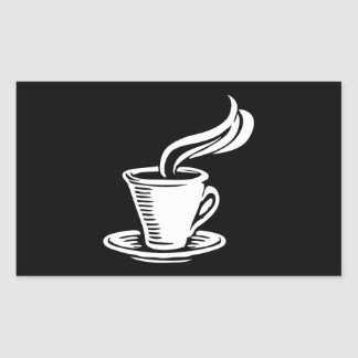 Retro Coffee Cup & Saucer Sticker