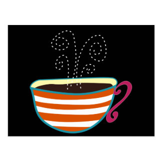 Retro Coffee Cup Tea Custom Postcard