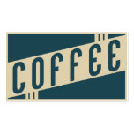 retro coffee loyalty punch card pack of standard business cards