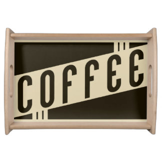 retro coffee serving tray